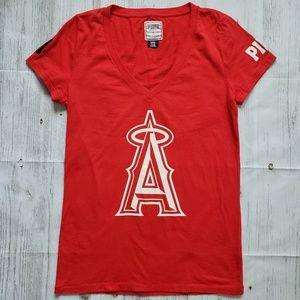 VS Pink Angels MLB Tee Size L